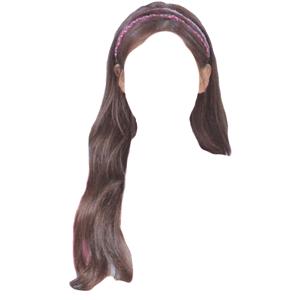 brown hair png headband