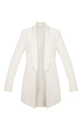 Cream Detail Oversized Blazer | PrettyLittleThing