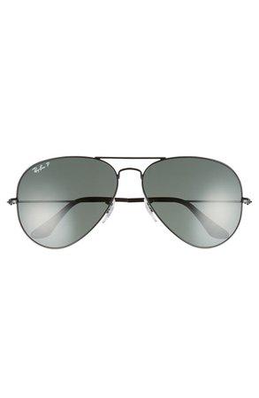 Ray-Ban Original 62mm Polarized Aviator Sunglasses | Nordstrom