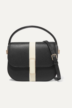 Black Iside textured-leather shoulder bag | Valextra | NET-A-PORTER