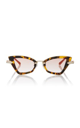 Karen Walker Bad Apple Square-Frame Tortoiseshell Acetate Sunglasses