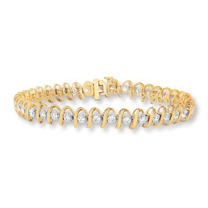 Jareds Diamond Yellow Gold Tennis Bracelet