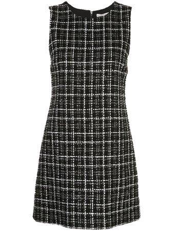 Alice+Olivia Coley Tweed A-Line Mini Dress