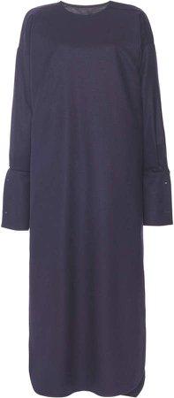 Max Mara Venusia Oversized Wool Midi Shirt Dress