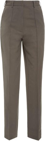 Beaufille Burnell Pleated High-Rise Wide-Leg Pants