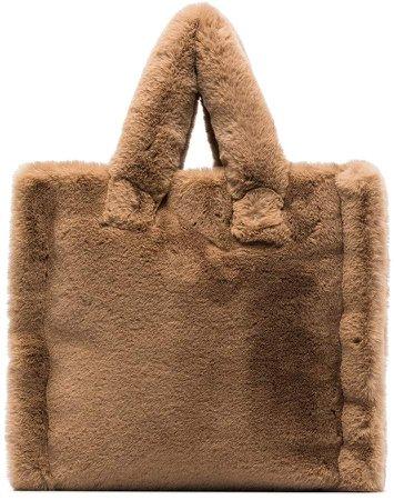 Stand Studio Lola faux fur tote bag