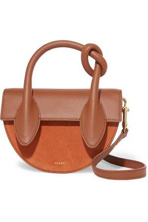 Yuzefi   Dolores suede and textured-leather shoulder bag   NET-A-PORTER.COM