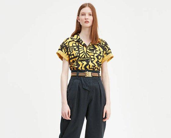 Levi's® X Stranger Things El Aztec Shirt - Yellow   Levi's® US