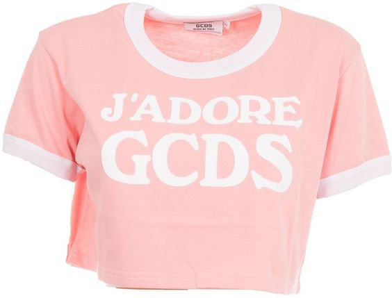 Gcds Logo Cropped T-shirt