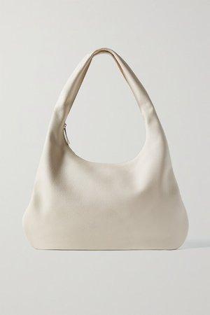 Everyday Textured-leather Shoulder Bag - Ivory