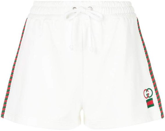 embroidered logo jogging shorts