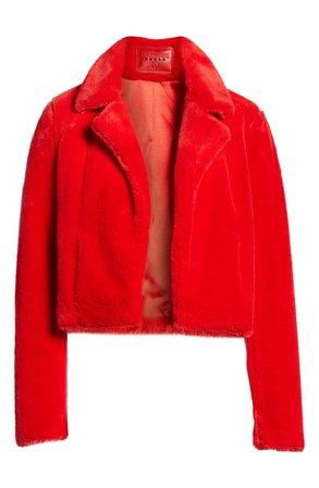 BLANKNYC Crop Faux Fur Jacket   Nordstrom