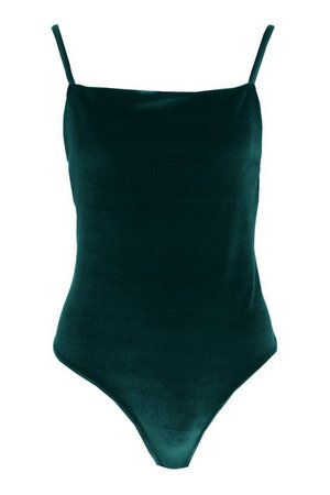 Plus Velvet Square Neck Bodysuit   Boohoo