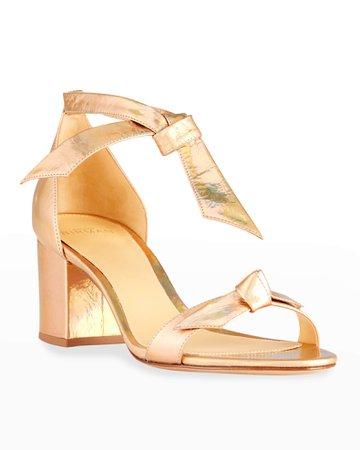 Alexandre Birman Clarita Metallic Ankle-Tie Sandals   Neiman Marcus