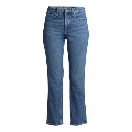 blue Free Assembly - Free Assembly Women's Original 90's Straight Leg Jeans - Walmart.com - Walmart.com