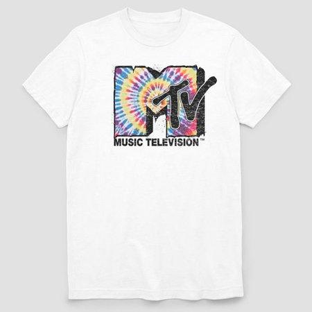 Men's MTV Short Sleeve Graphic T-Shirt White : Target