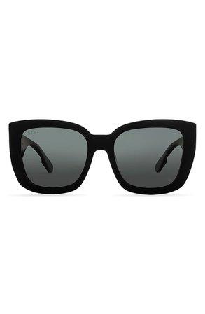 DIFF Dana 63mm Polarized Oversize Cat Eye Sunglasses | Nordstrom
