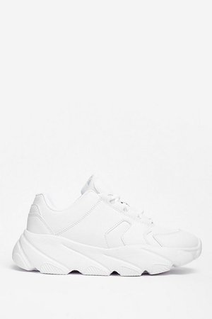 Running the World Faux Leather Chunky Sneakers | Nasty Gal