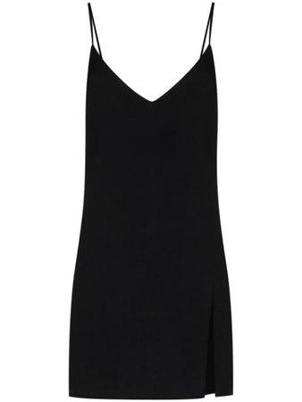 Reformation slit detail mini dress black 1304961BLK - Farfetch