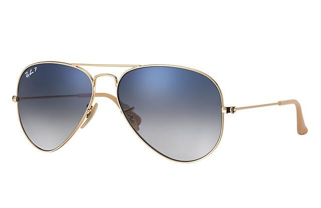 Ray-Ban AVIATOR GRADIENT RB3025 Gold - Metal - Light Blue Lenses - 0RB3025001/3F58 | Ray-Ban® USA