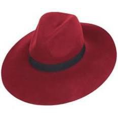 red wide brim hat - Google Search