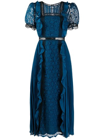 Self-Portrait Lace Guipure Midi Dress - Farfetch