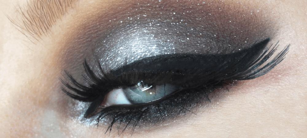 black dramatic makeup