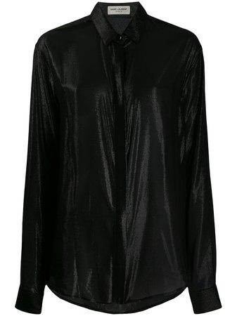 Saint Laurent Camisa Con Diseño Metalizado - Farfetch