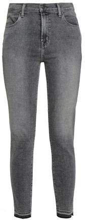 Alana Frayed High-rise Skinny Jeans