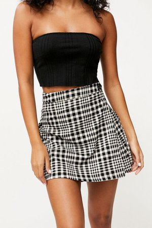 UO Patterned Pleated Mini Skirt | Urban Outfitters
