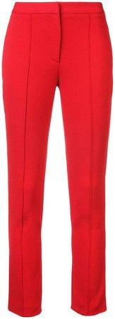 slim-fit cigarette trousers