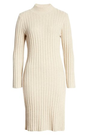 BP. Ribbed Long Sleeve Sweater Dress | Nordstrom