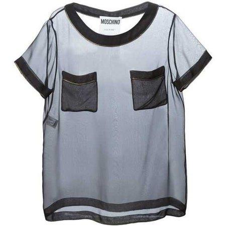 Moschino chain trim sheer T-shirt