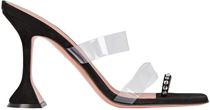 Sami PVC-Trimmed Leather Sandals
