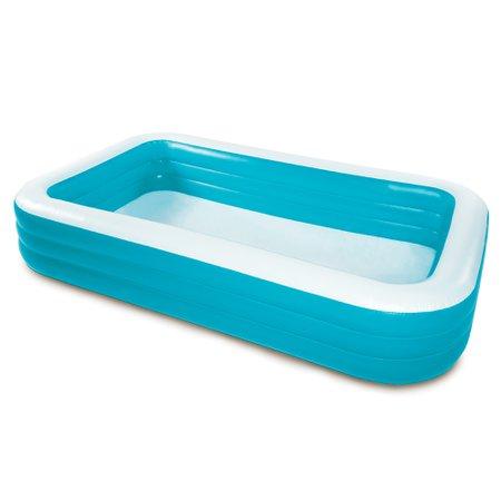 "Play Day Rectangular Inflatable Family Pool, 120"" x 72"" x 22"" - Walmart.com - Walmart.com"