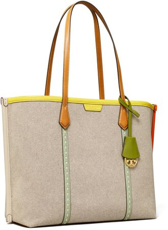 Perry Canvas Triple-Compartment Tote Bag