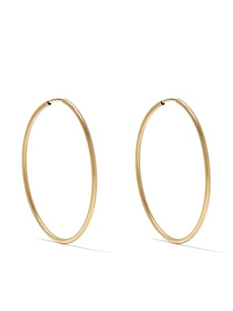 White Bird 18kt Yellow Gold Large Hoop Earrings - Farfetch