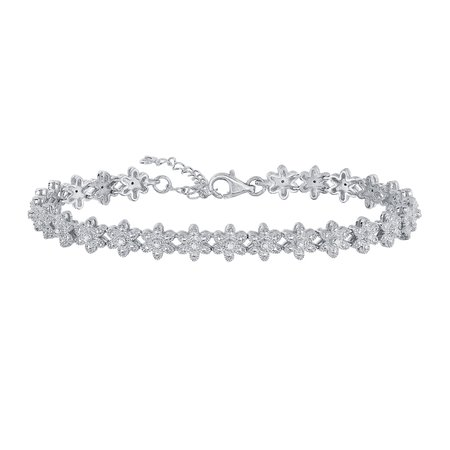 silver diamond bracelets - Google Search