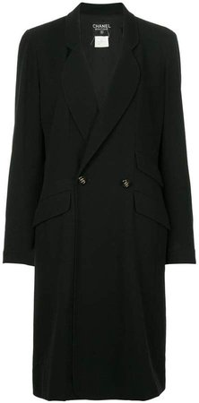 Pre-Owned double-breasted midi coat