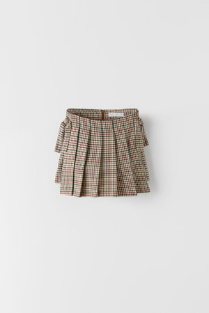 HOUNDSTOOTH BOX PLEAT SKIRT | ZARA United States