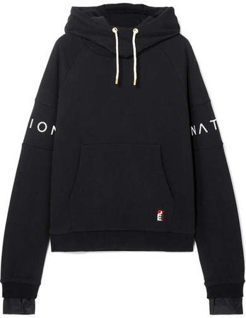 The Fast Forward Defender Printed Cotton-jersey Hoodie - Black