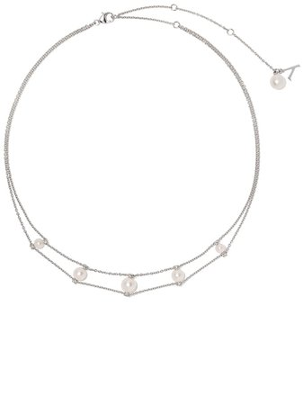 Yoko London 18Kt White Gold Diamond Trend Choker Necklace Ss20 | Farfetch.Com
