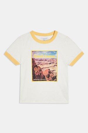 Cream Grand Canyon Top   Topshop