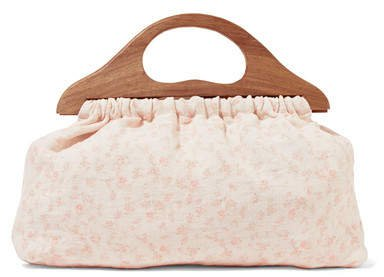 Mckenna Floral-print Canvas Tote - Baby pink
