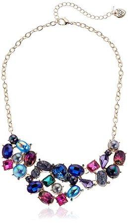 Amazon.com: Betsey Johnson (GBG) Women's Mixed Stone & Bead Bib Strand Necklace, Peacock Dark Multi, One Size: Gateway