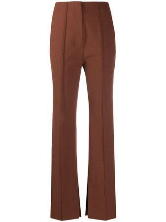 Shop red Nanushka straight-leg trousers with Express Delivery - Farfetch