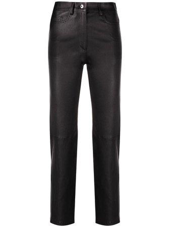 Joseph Leather straight-leg Trousers - Farfetch