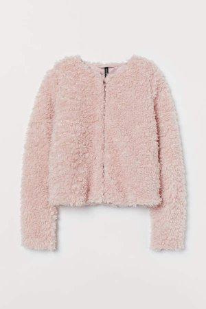 Short Faux Fur Jacket - Pink
