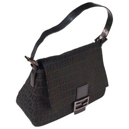 Mamma baguette cloth handbag Fendi Black in Cloth - 9610323