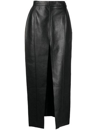 Black Nanushka Arlynn high-waist skirt - Farfetch